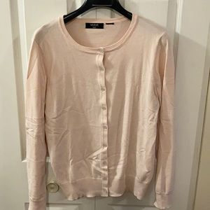 Sweaters - Peachy pink cotton-blend cardigan